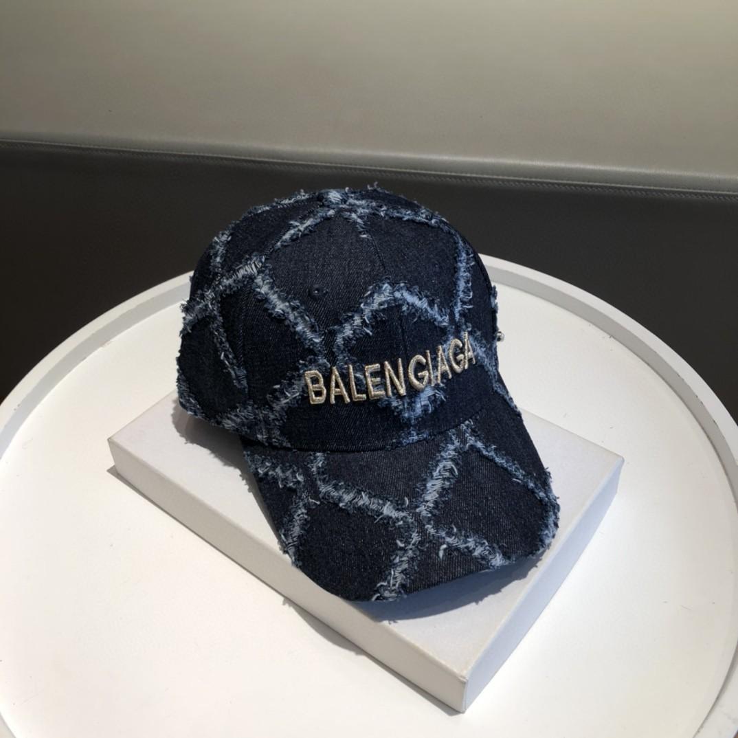 特价巴黎世家牛仔棒球帽新色做旧牛仔限