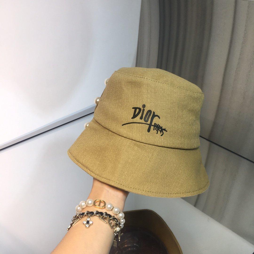 上新Dior迪奥新款珍珠搭配渔夫帽棉