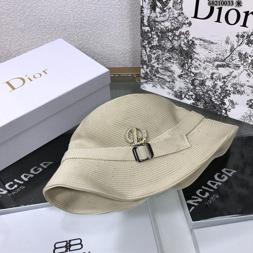 DIOR迪奥2021新款简约草编草帽