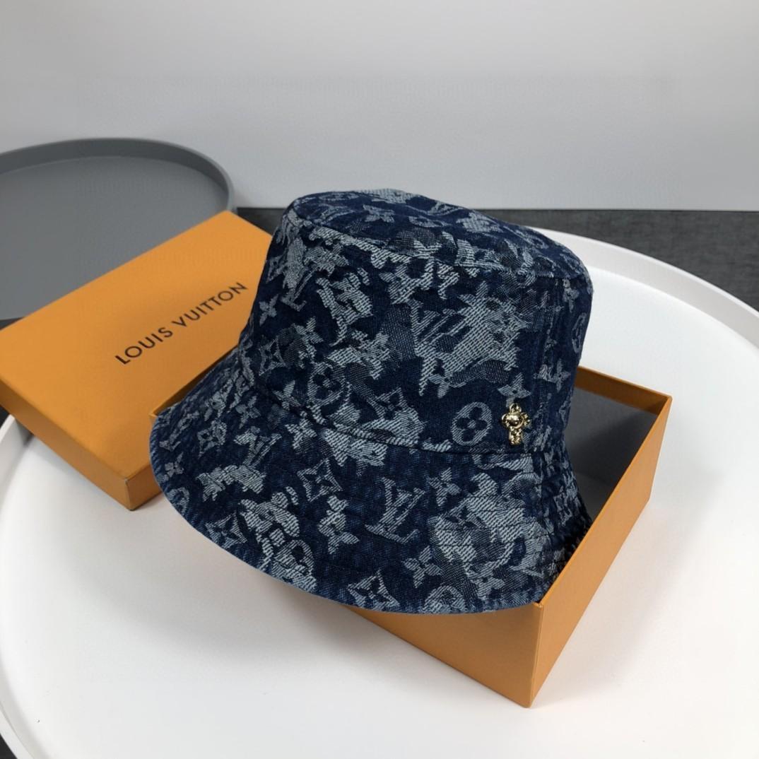 特价路易威登LV牛仔渔夫帽新色做旧牛