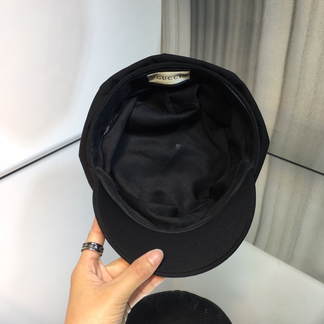 上新古奇GCCI新款冰丝立体八角帽正