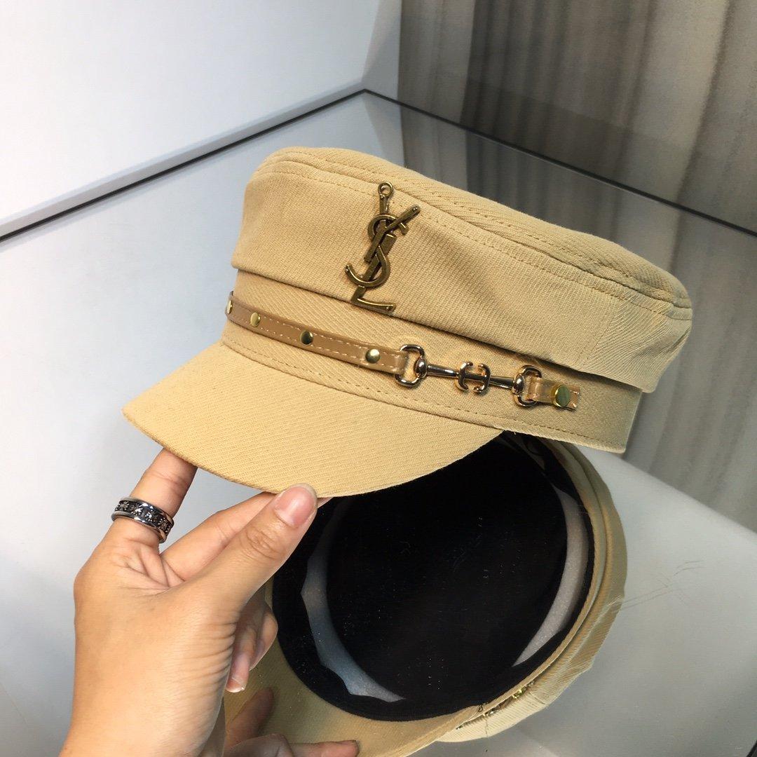 上新圣罗兰YSL春款军帽皮革链条独家