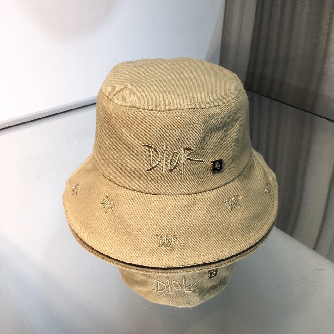 上新Dior迪奥大牌渔夫帽刺绣log