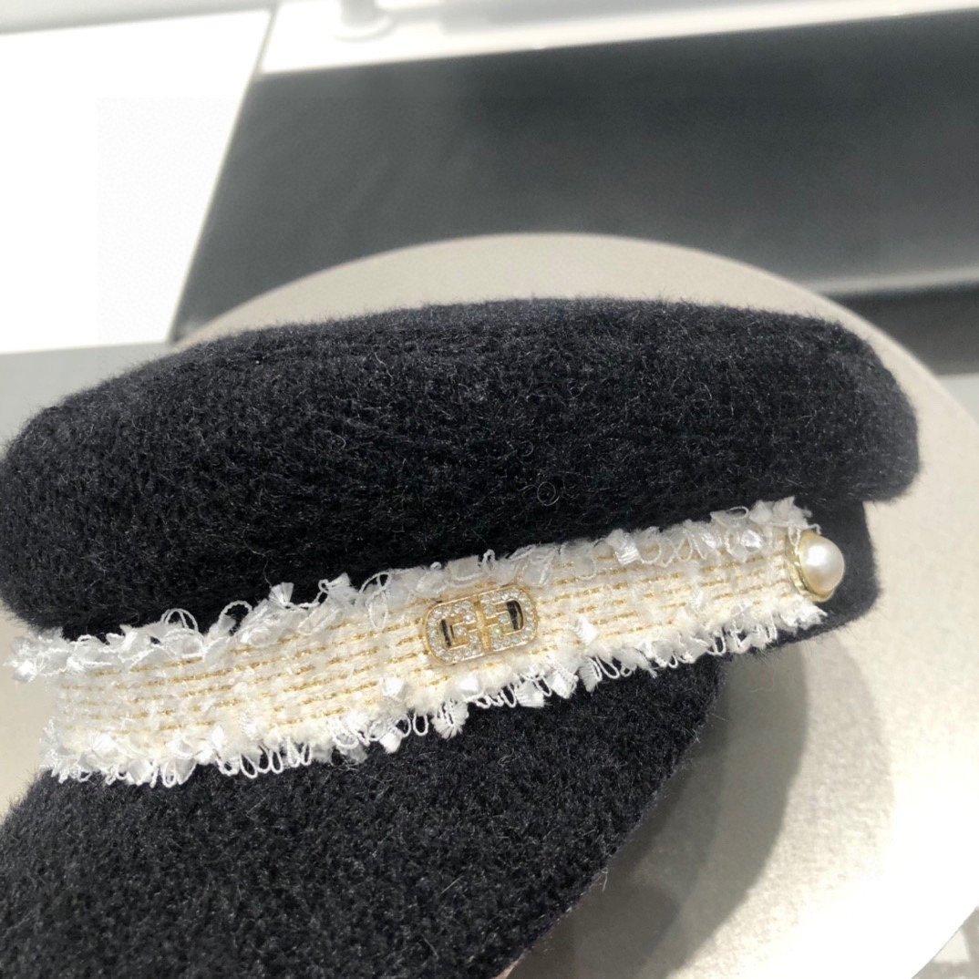 Gucci古奇秋冬季韩版毛绒平顶海军