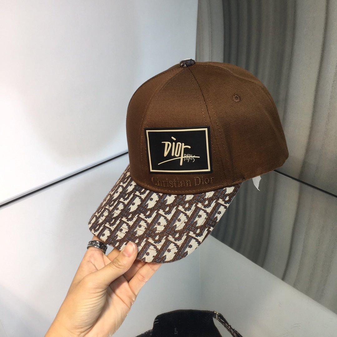 上新Dior迪奥新品老花棒球帽bab
