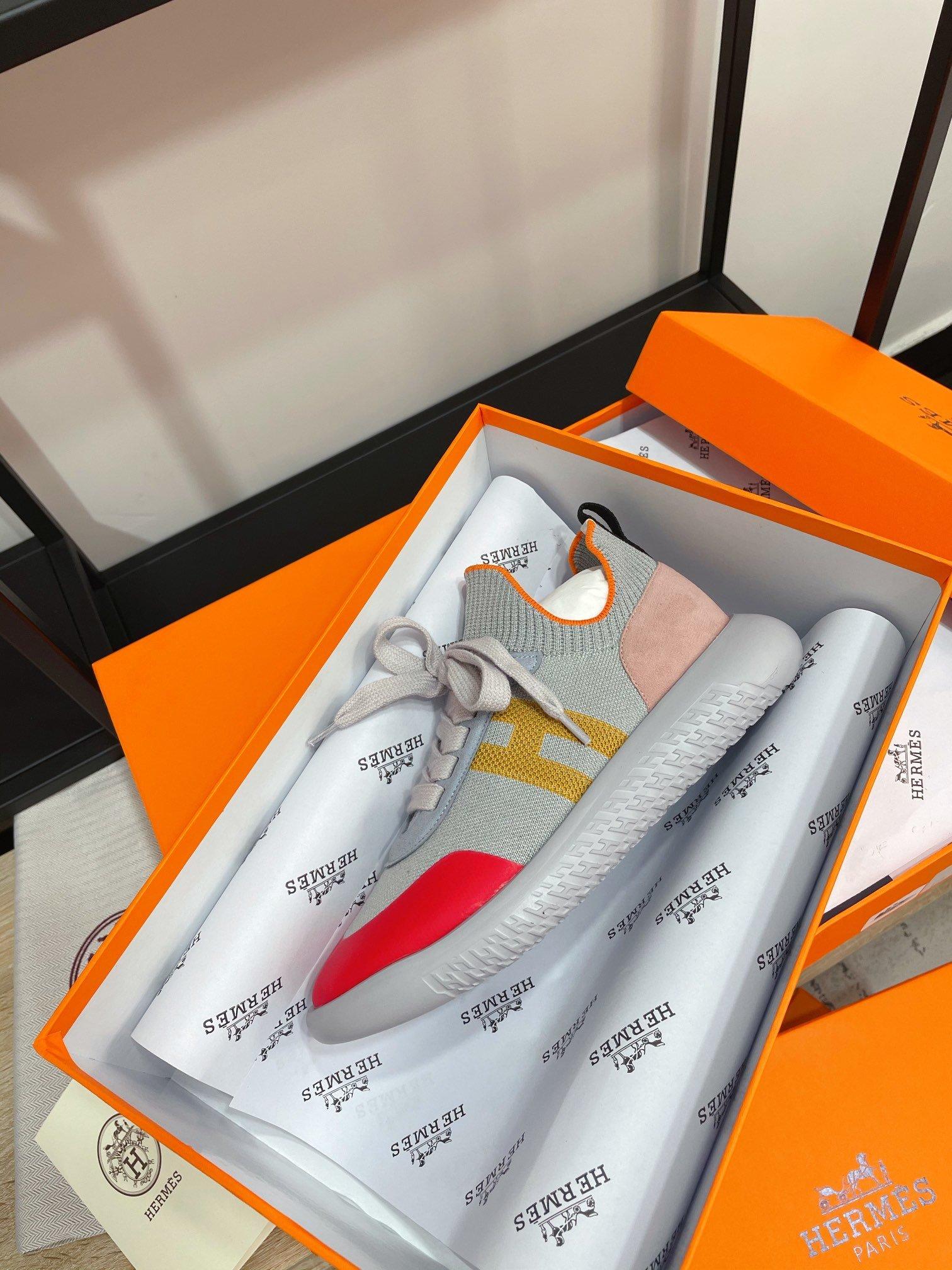 HERMES爱马仕……2021最新配色运动袜子鞋专柜同步款