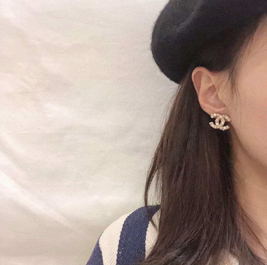chanel完美品质方钻珍珠耳钉原版