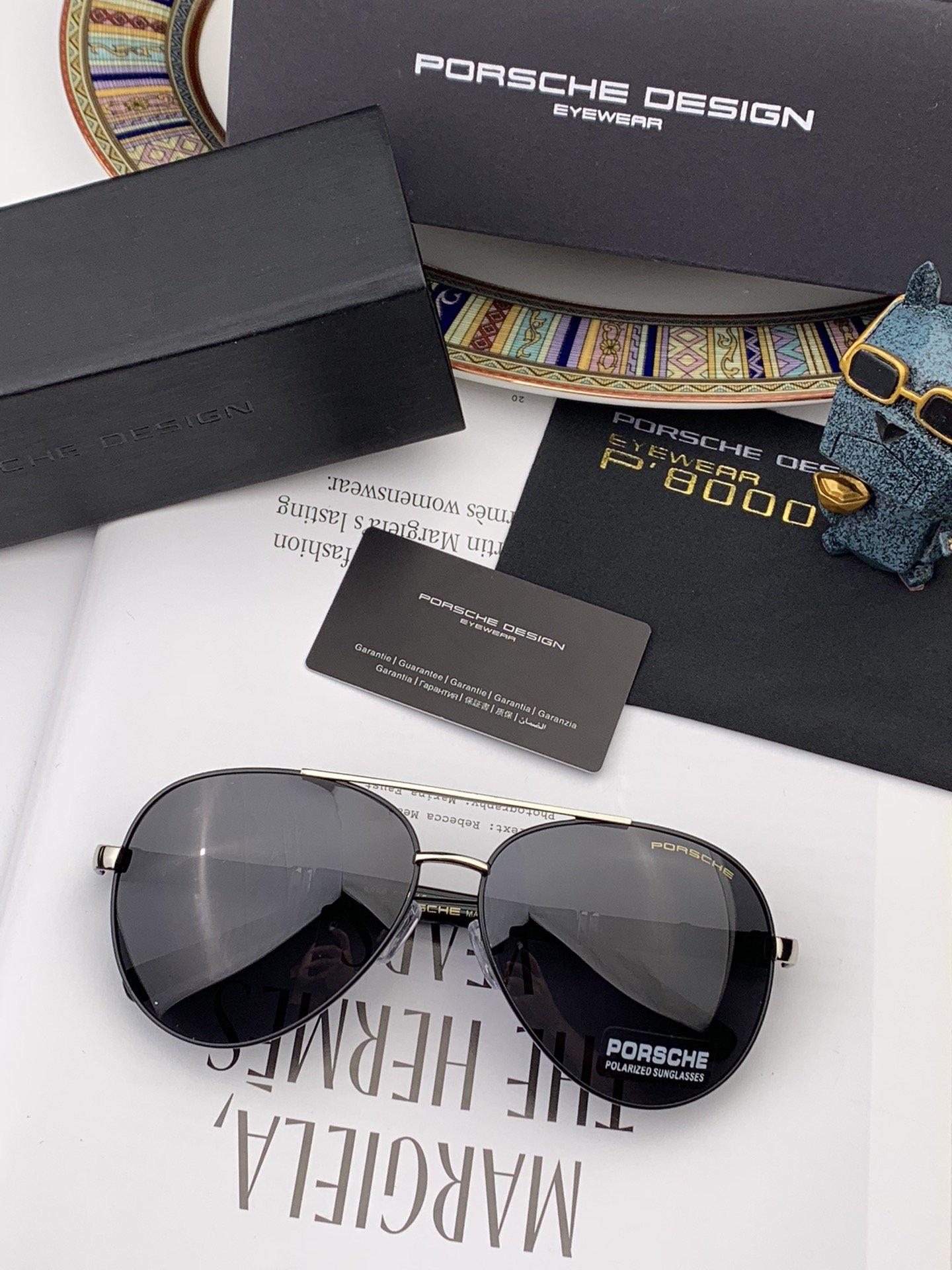 保时捷偏光金属男款方框太阳镜材质宝丽