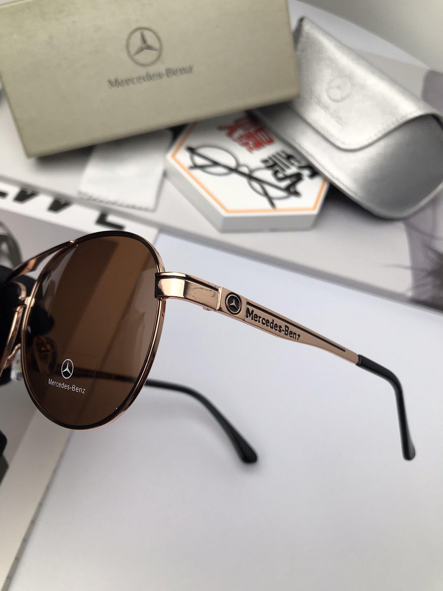 新款品牌奔驰高品质男士偏光太阳镜材质