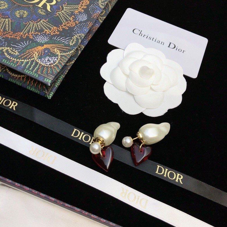 原单货新款DIOR迪奥CD珍珠耳钉专
