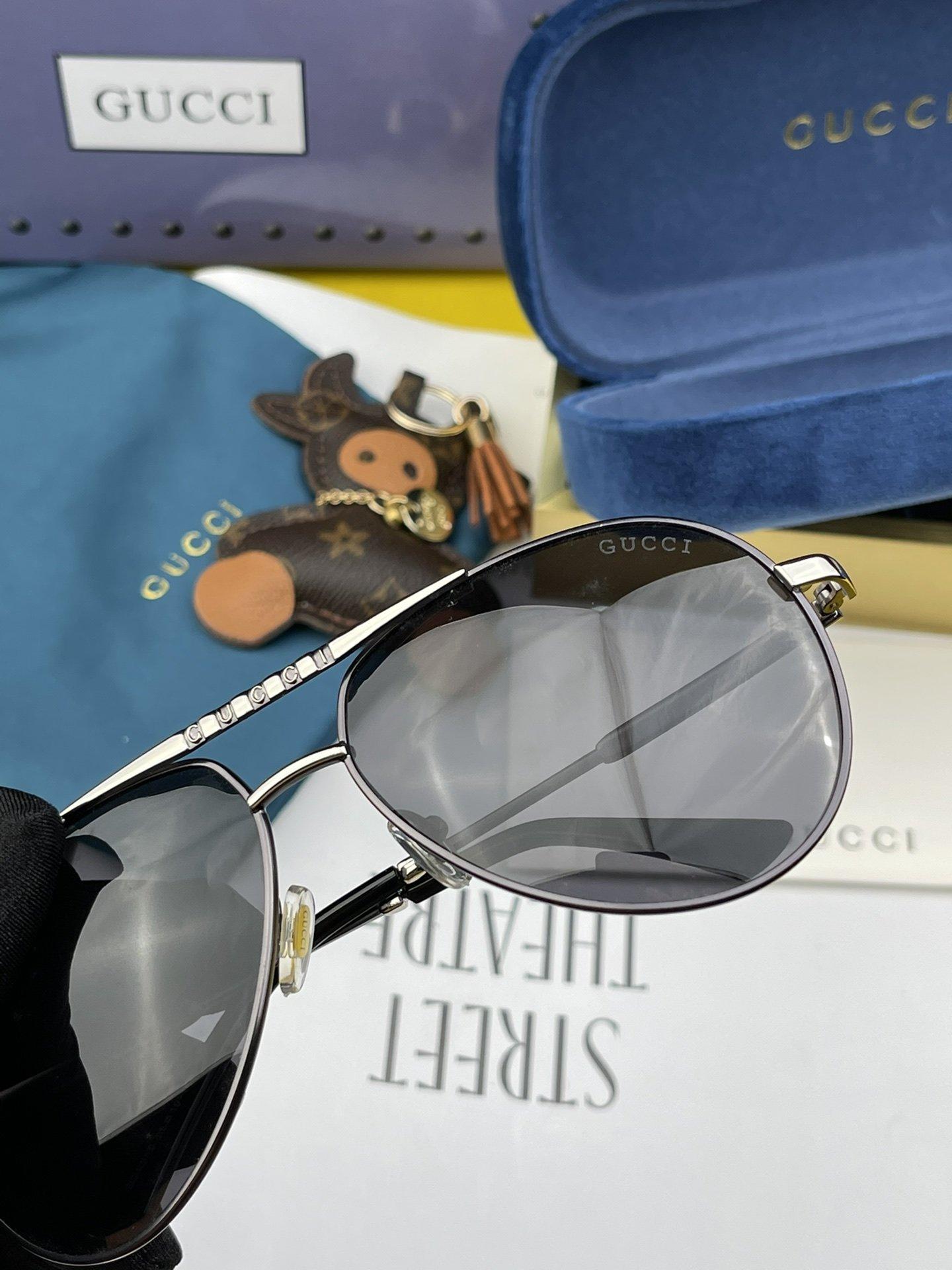 GUCCI古奇男士圆框太阳镜完美品质