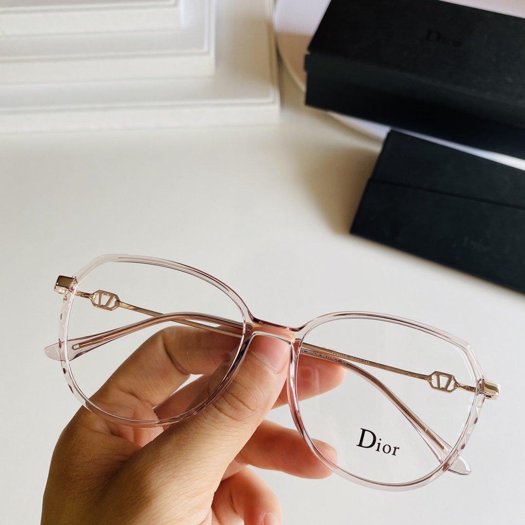 DIOR超轻透明系镜框减龄可爱mod