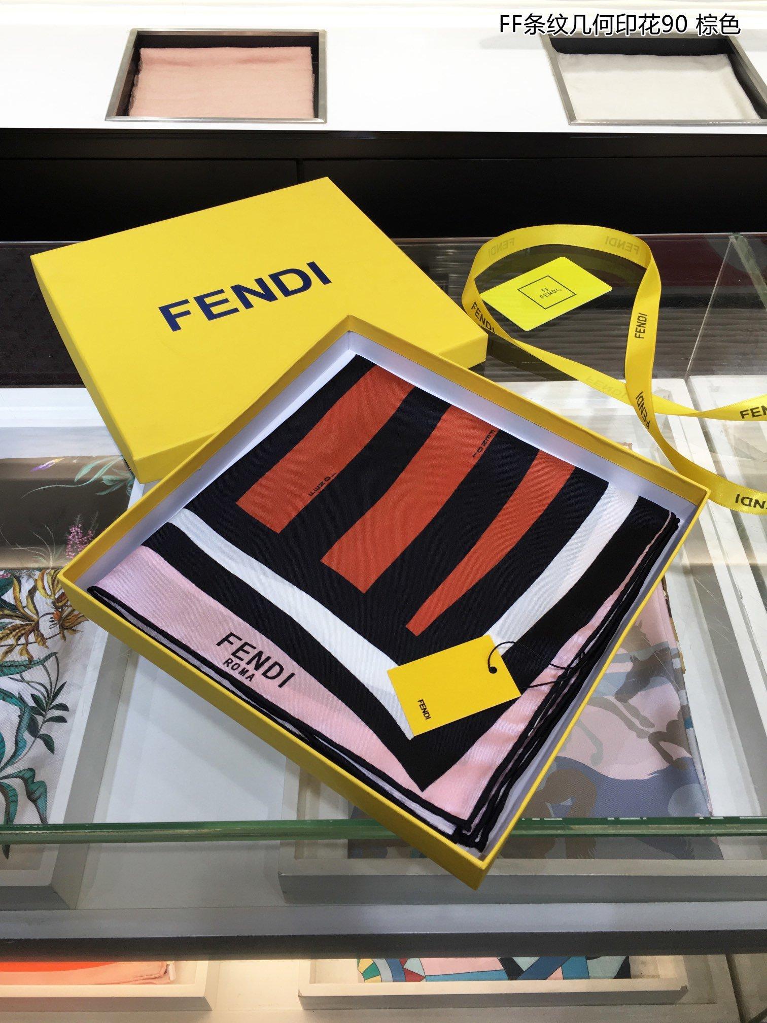 新FD最最新的专柜主打FF条纹几何印