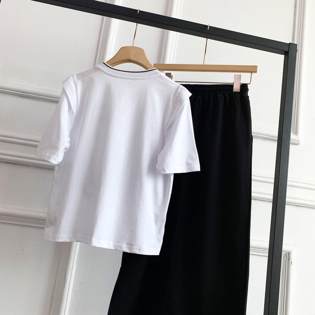 celine数字短袖半身裙套装灰色黑