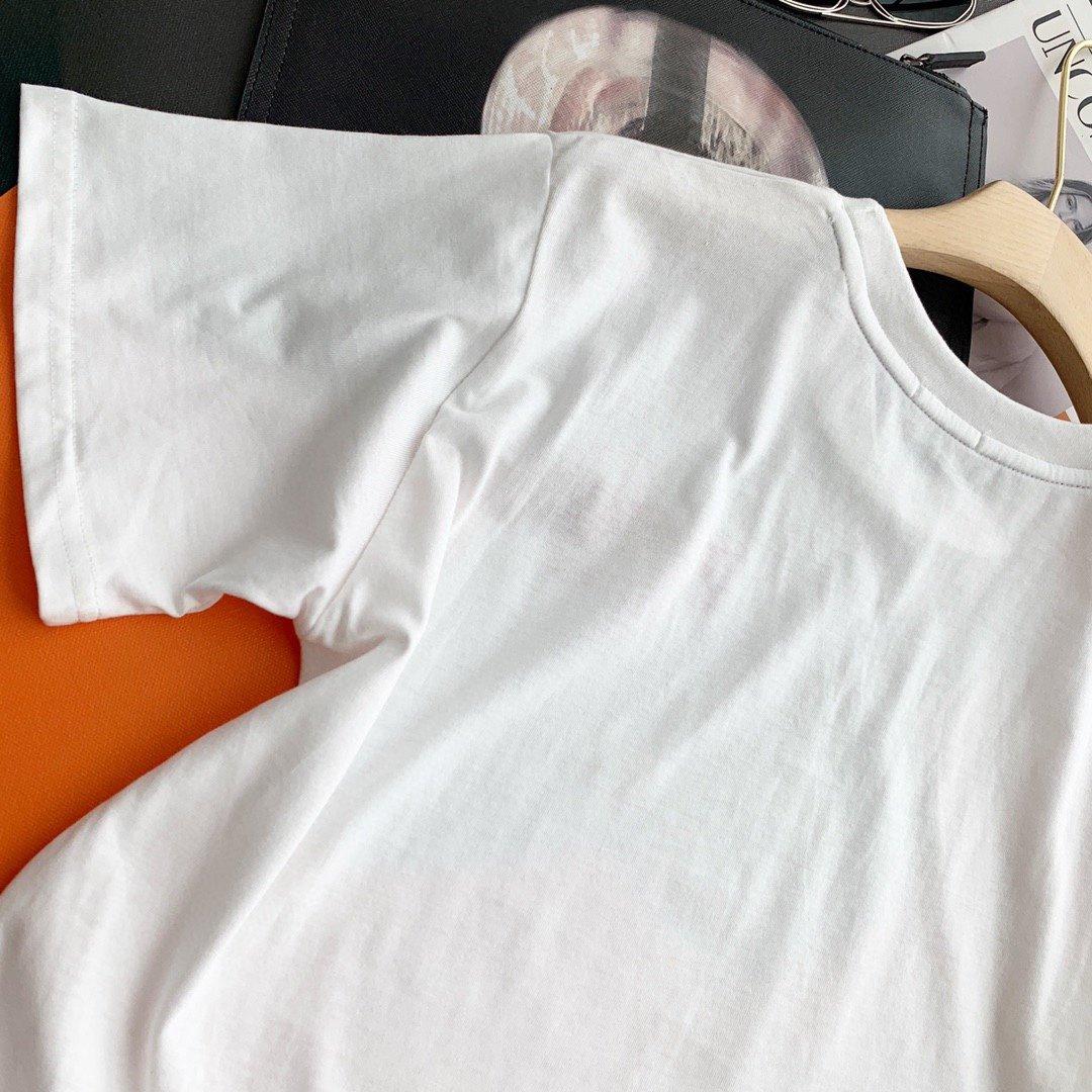️Fendi刺绣字母套装短袖白色SM