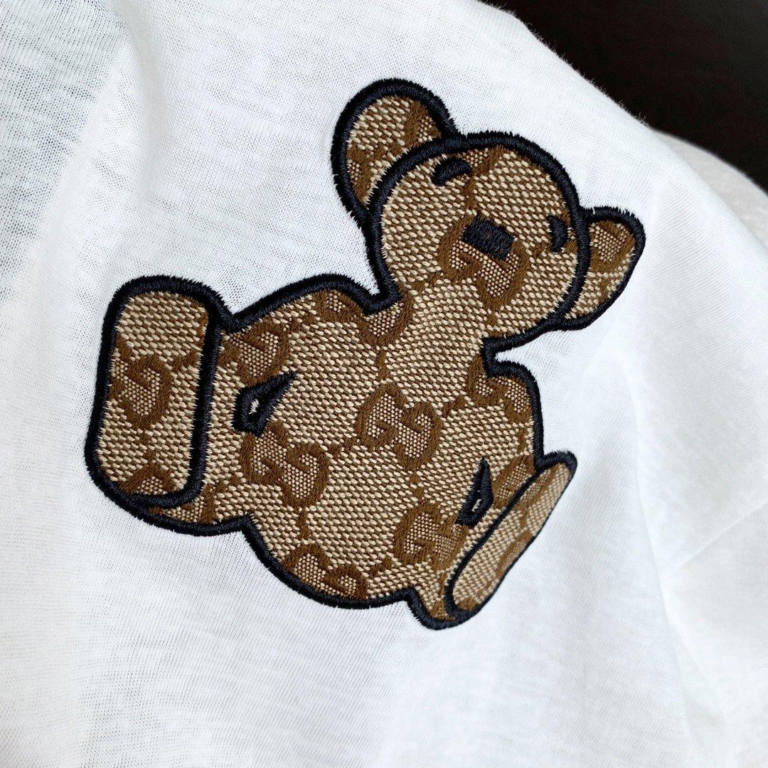 Gucci小熊防晒长袖短裤套装卡其色