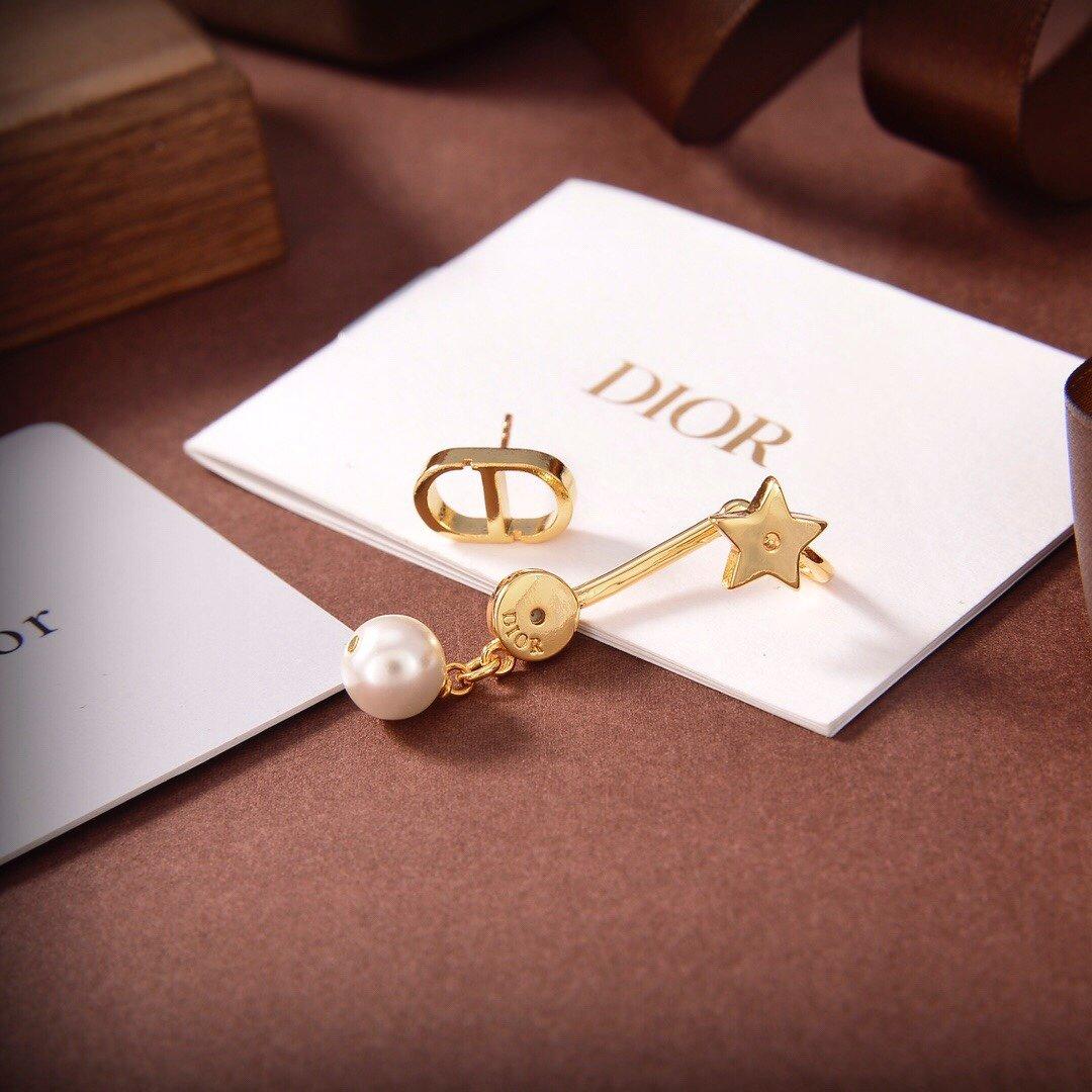 Dior迪奥星星CD单只耳钉专柜新款