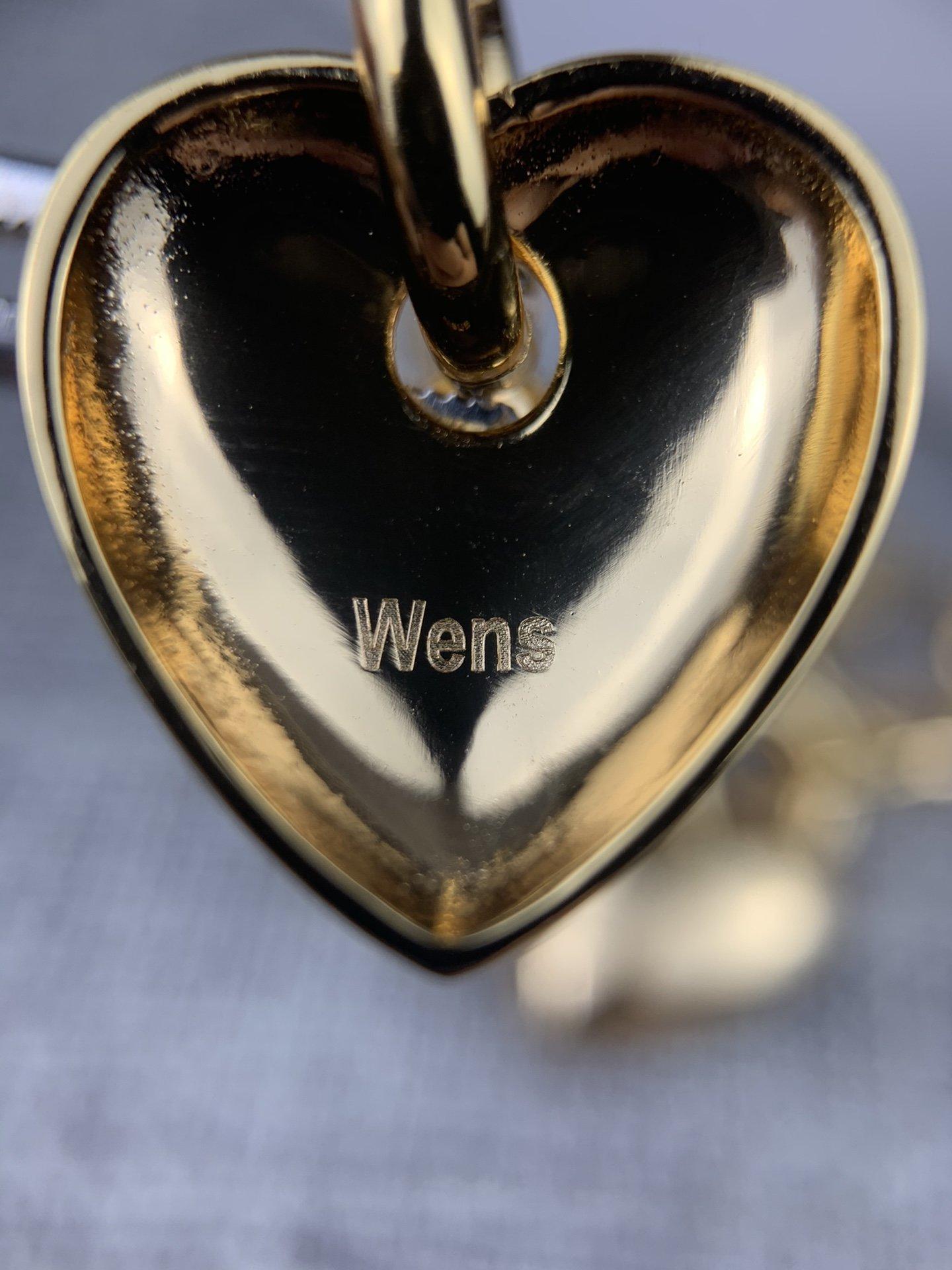 Wens爱心系列耳钉简单大方搭配衣服
