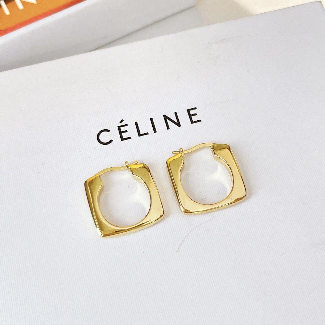 AA600Celine塞林黄金方形光