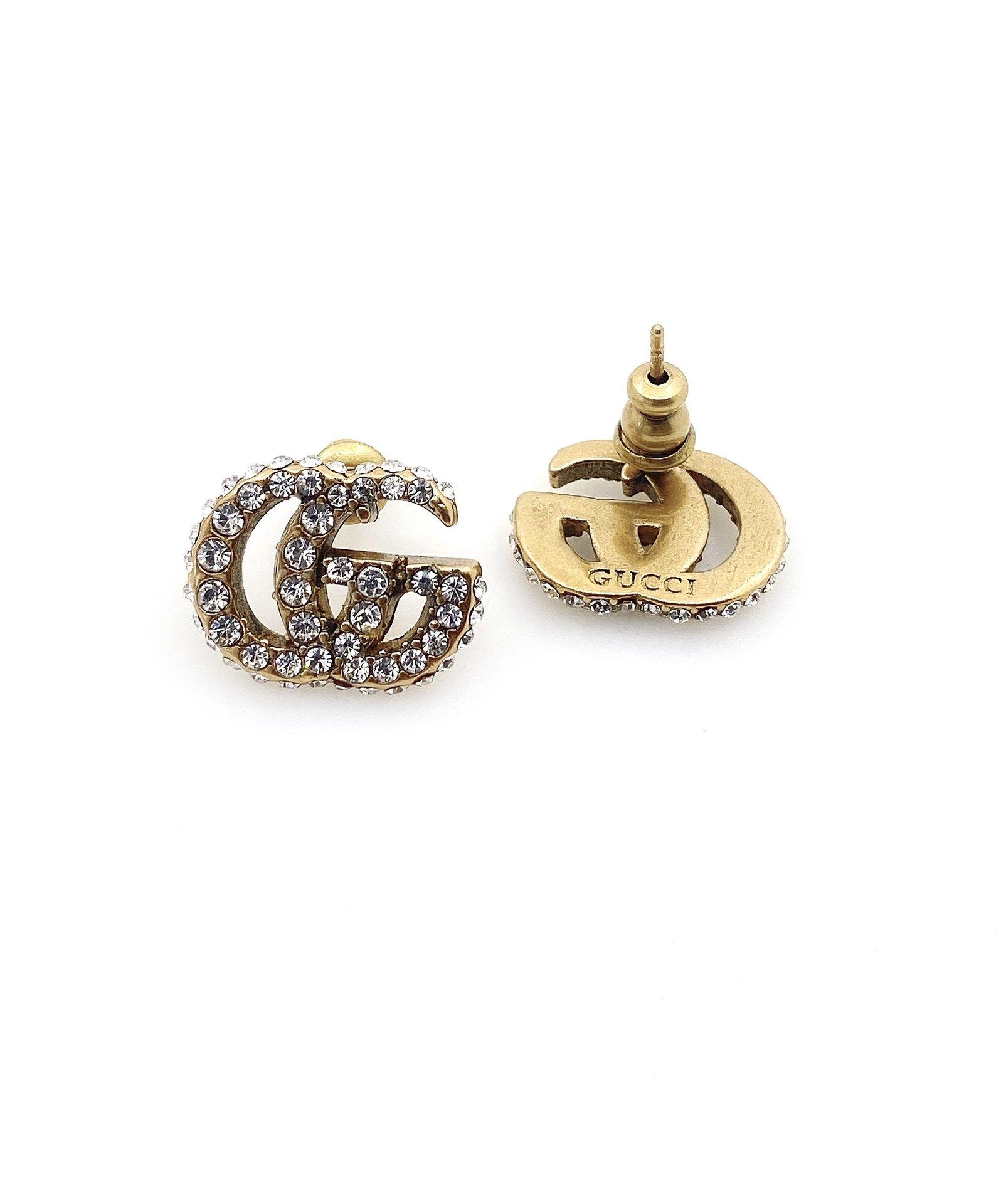 G家双G耳钉同款材质925银针