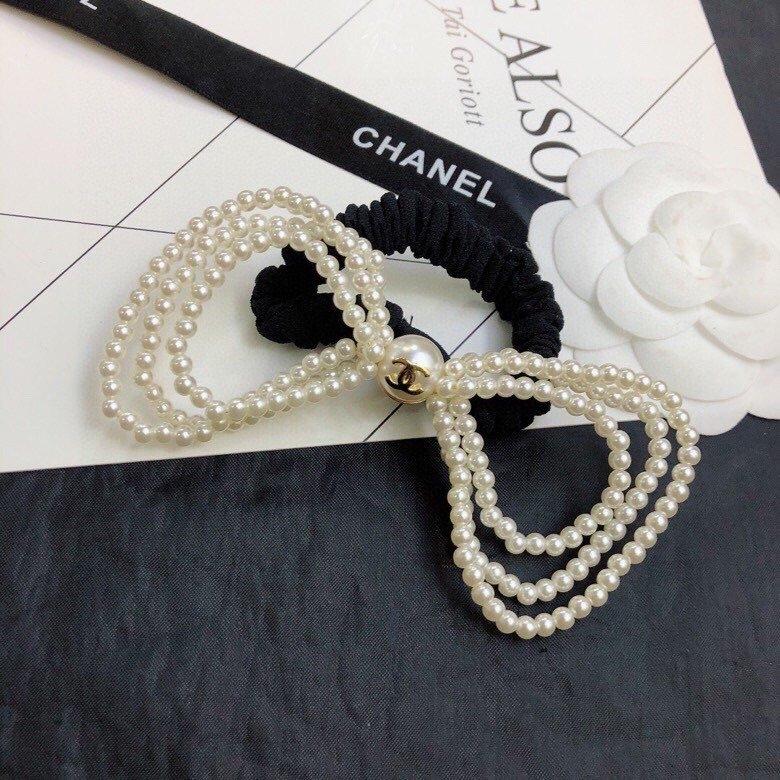 Chanel小香新款珍珠头绳小香珍珠