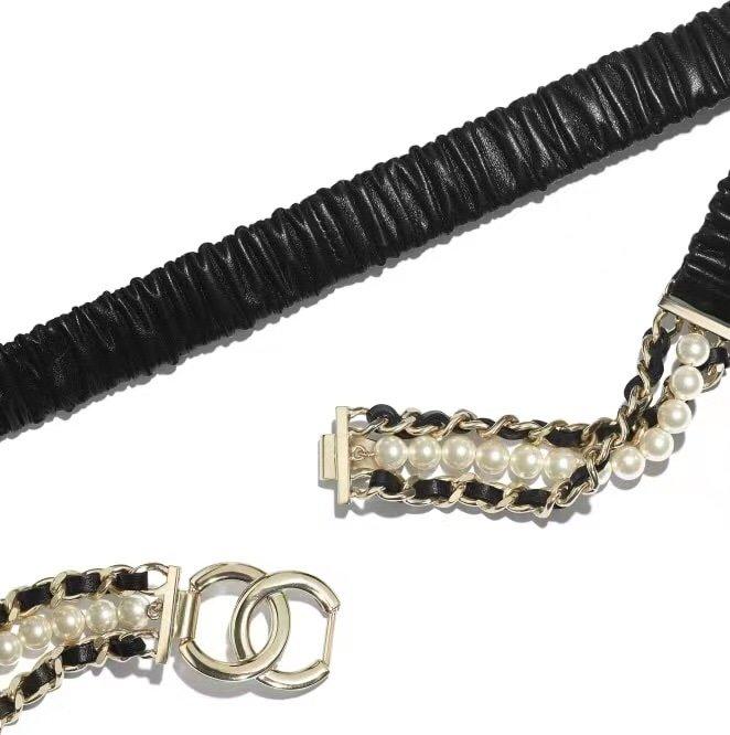 Chanel香奈儿珍珠腰链原版一致黄
