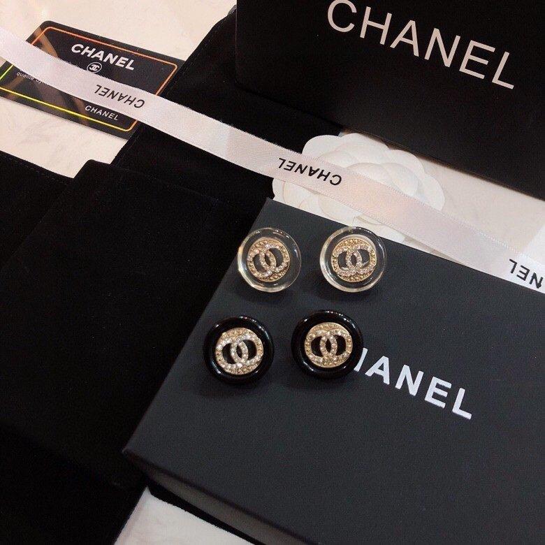Chanel香奈儿进口树脂耳环小香市