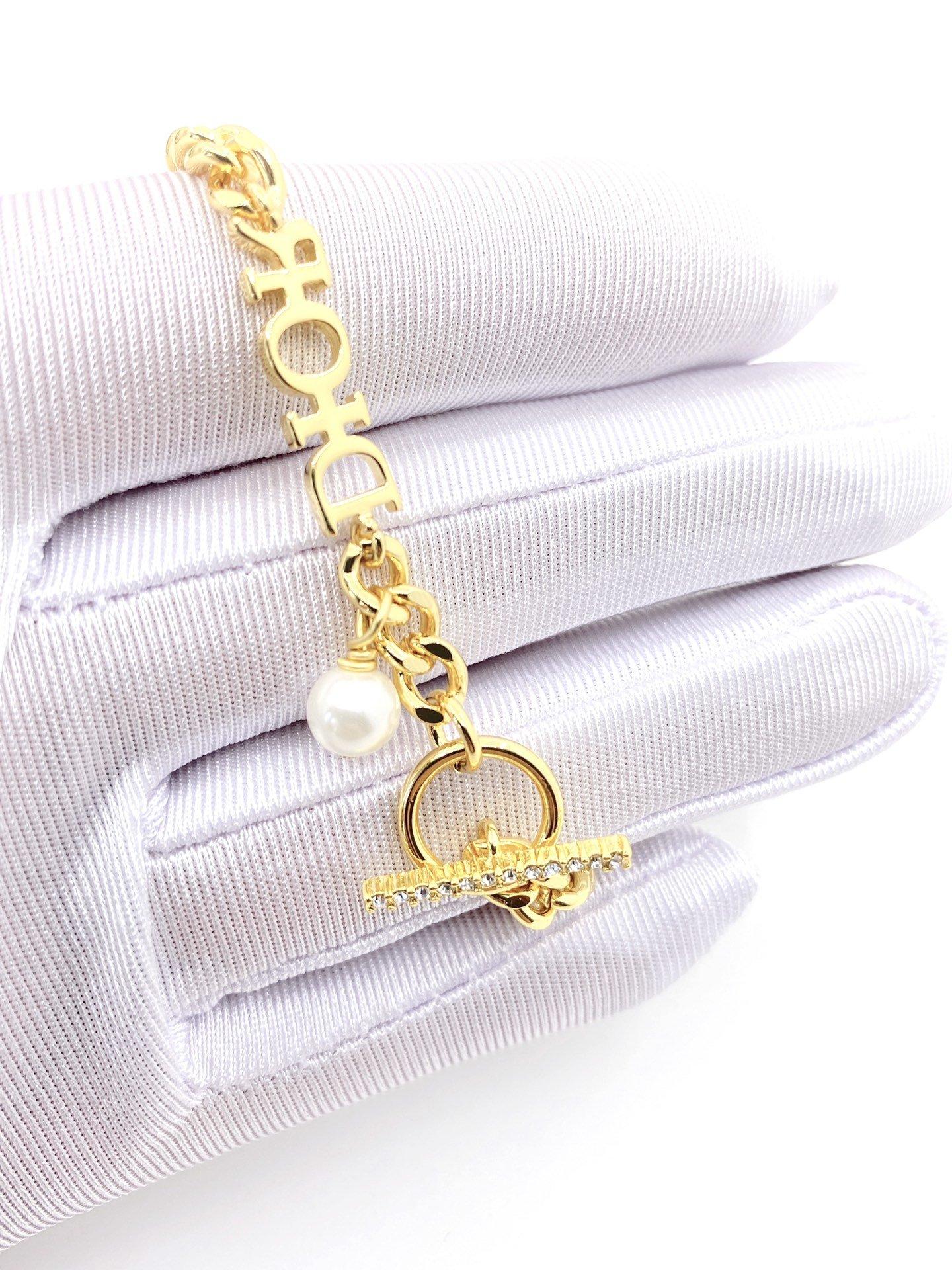 Dior新款链条手链一致zP材质