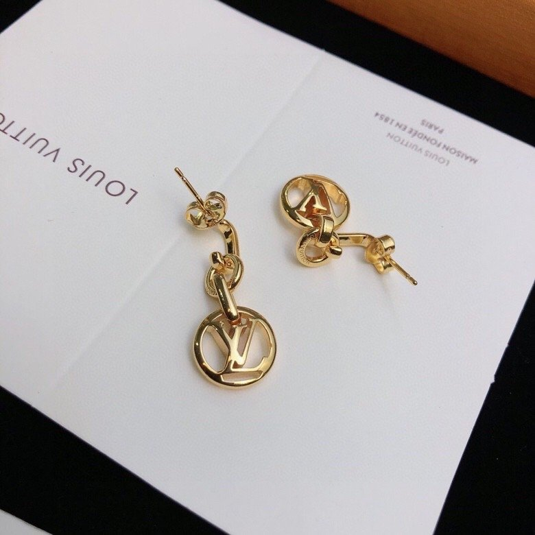 精工版本路易威登耳钉菱形花形LV耳环