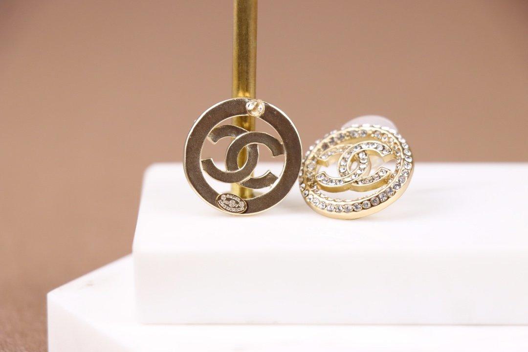 Chanel香奈儿圆耳环原版一致黄铜