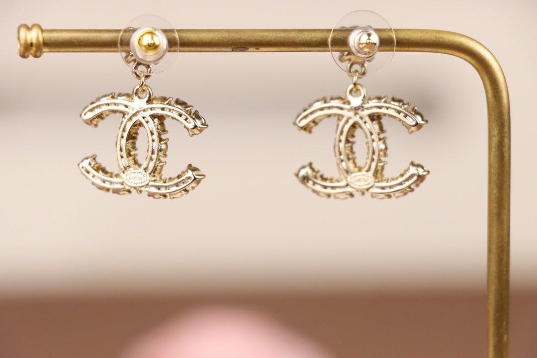 Chanel香奈儿耳环原版一致黄铜镶
