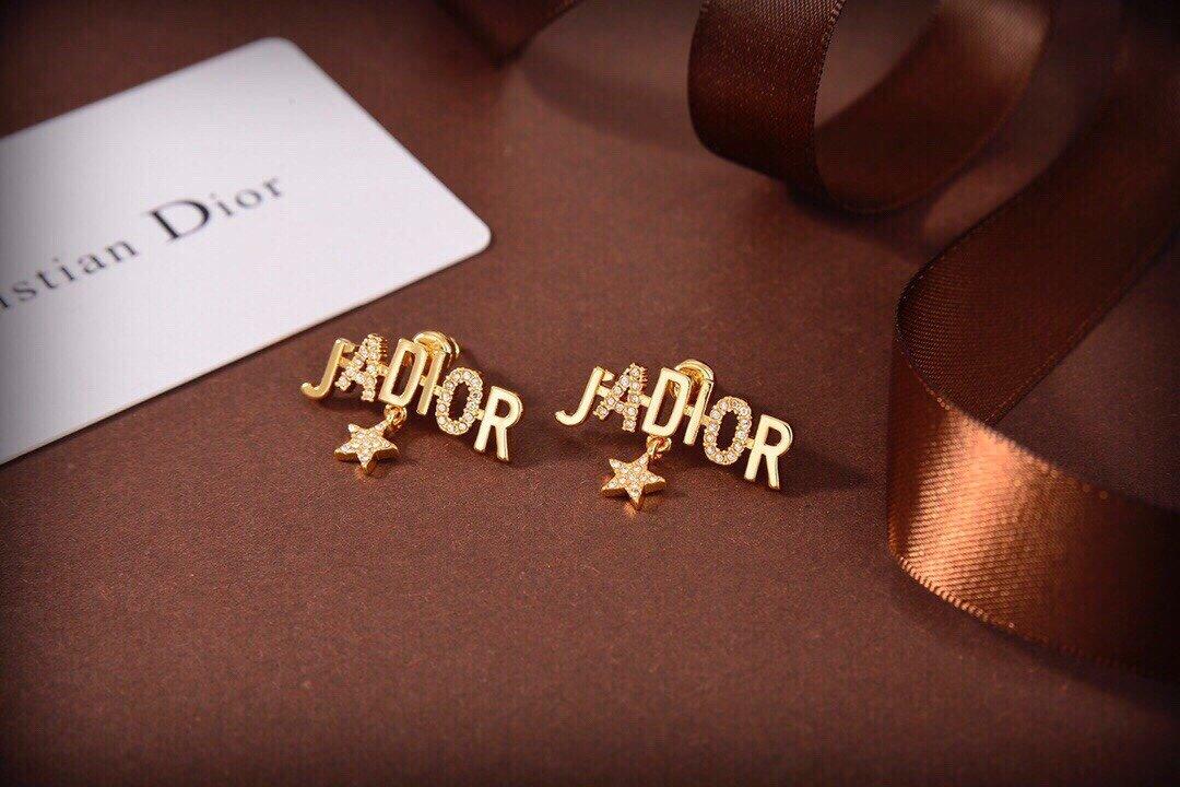 dior迪奥新款JADIOR字母耳钉