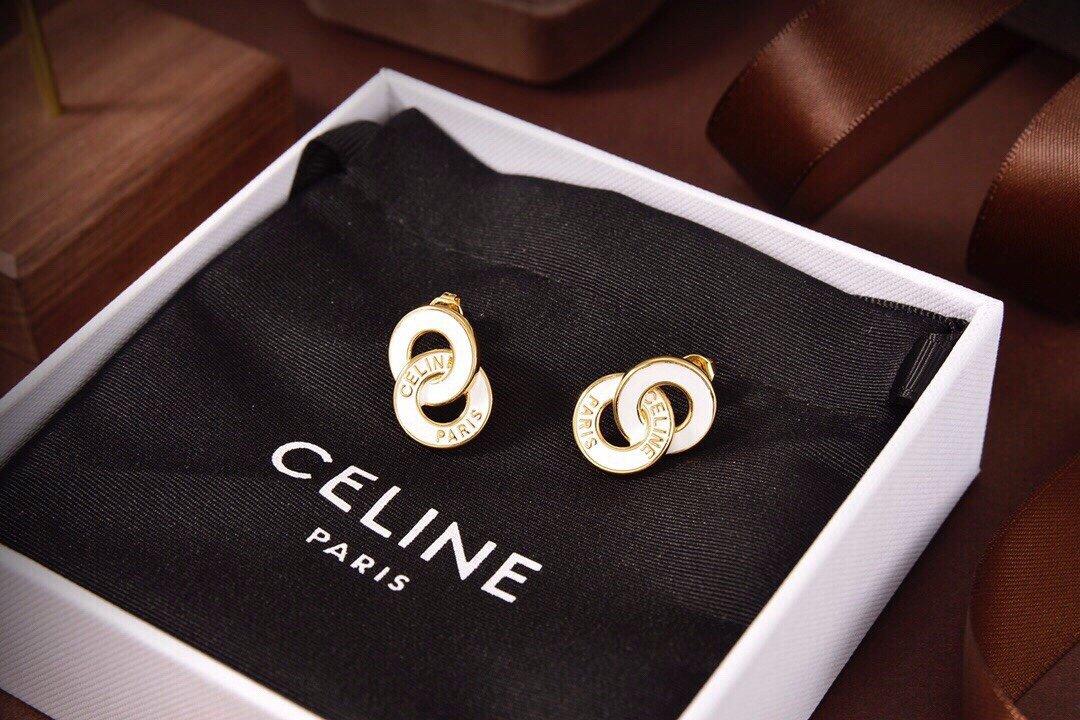 Celine新款黑白耳钉与众不同的设