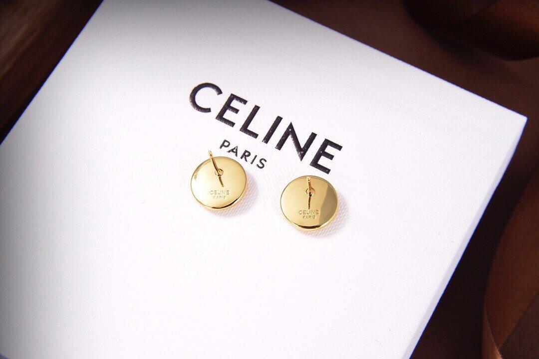Celine新款金色耳坠与众不同的设