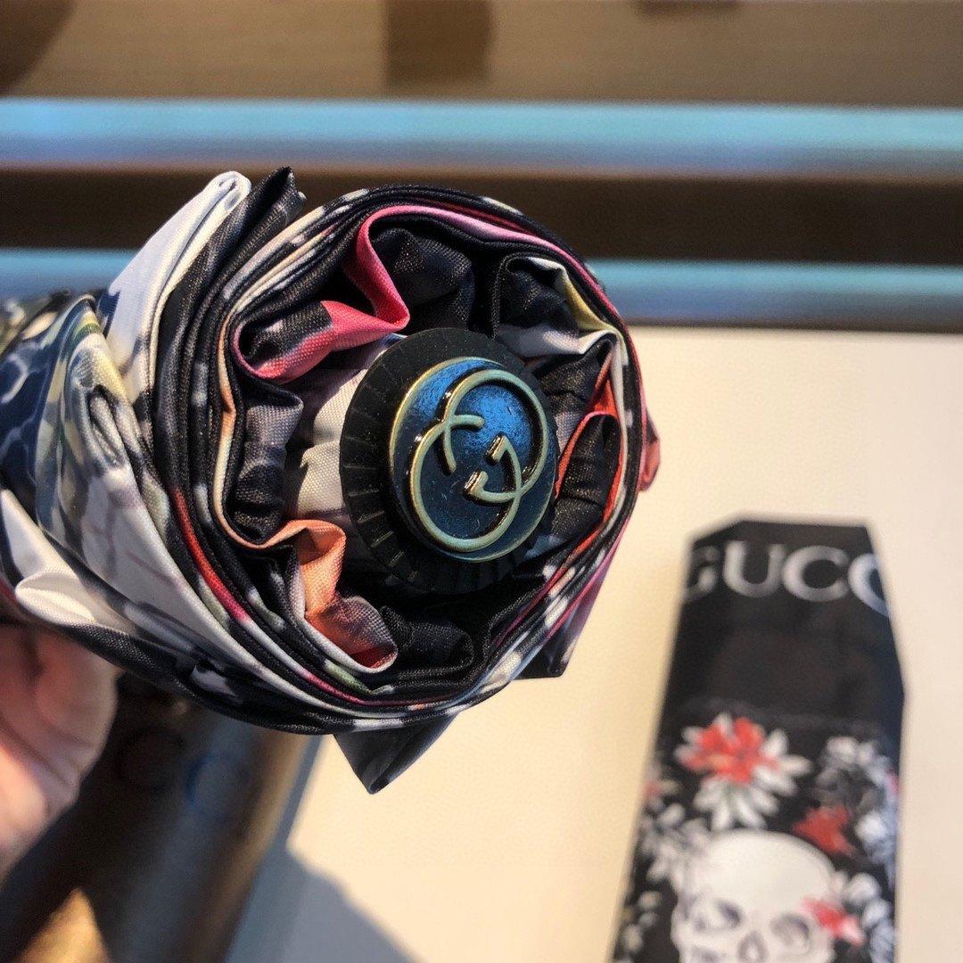 Gucci古奇新款骷髅头三折自动折叠