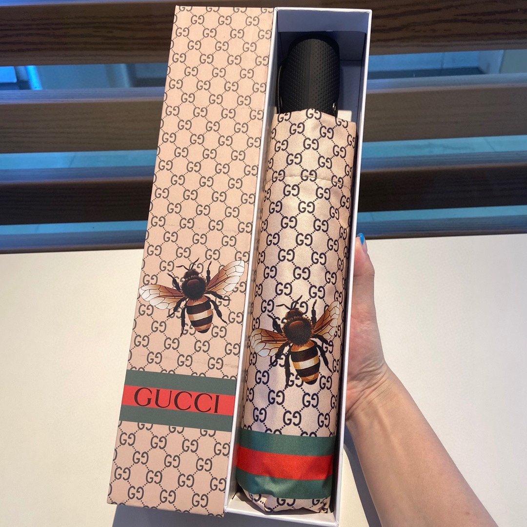 Gucci古奇新款大黄蜂三折自动折叠