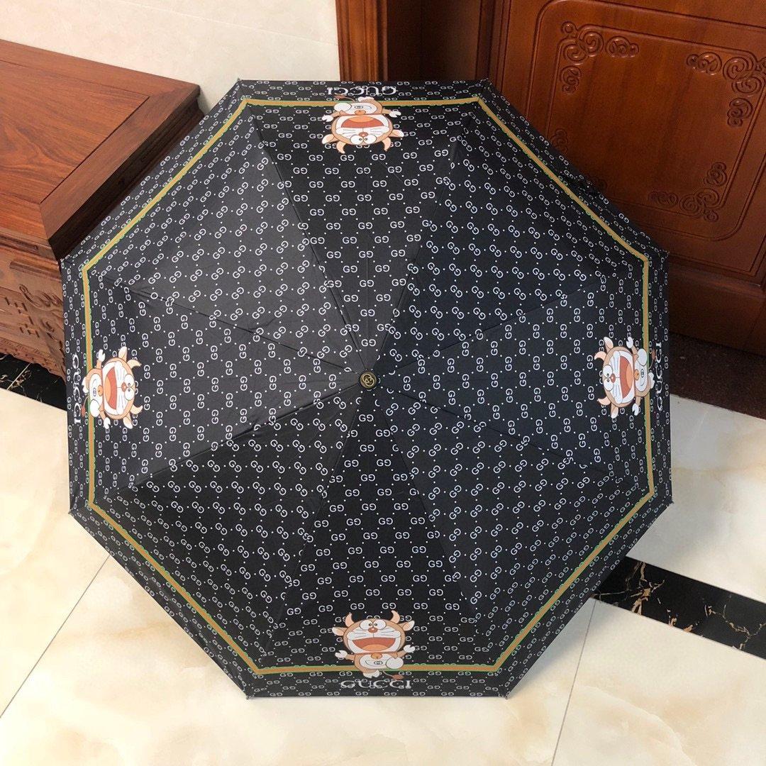 Gucci古奇新款三折自动折叠晴雨伞