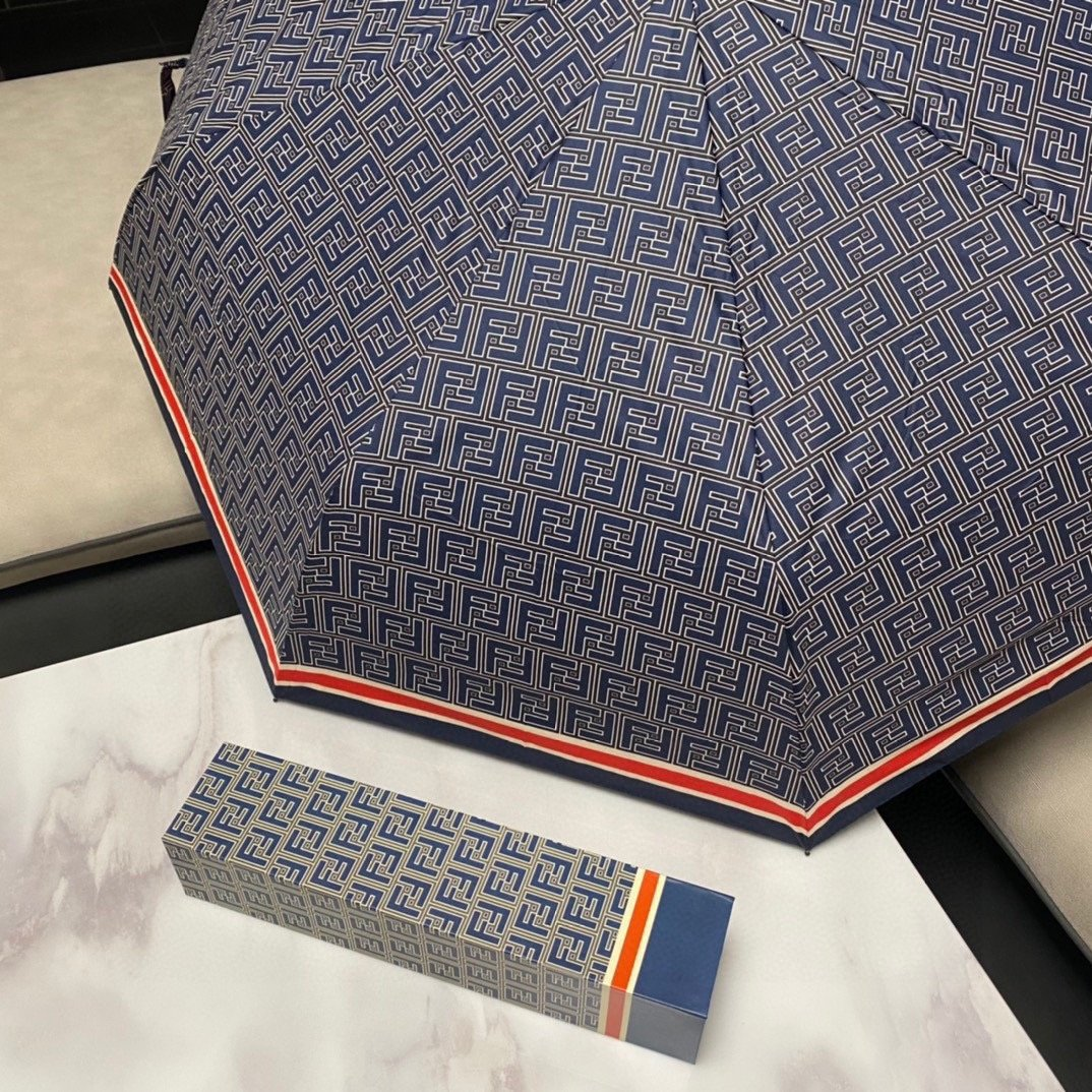 FENDI芬迪三折自动折叠晴雨伞20