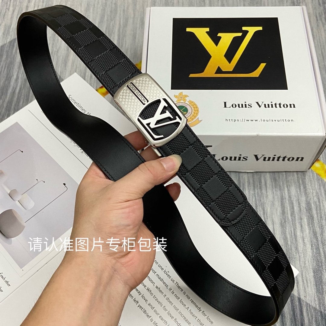 品牌LV路易威登原单皮带腰带单面使用