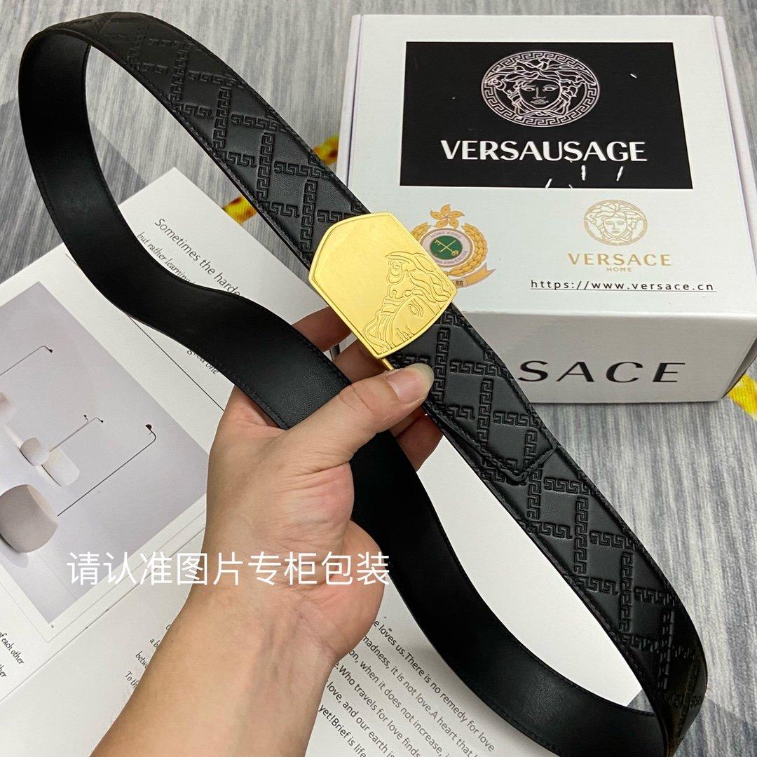 品牌美人头范思哲原单皮带腰带单面使用