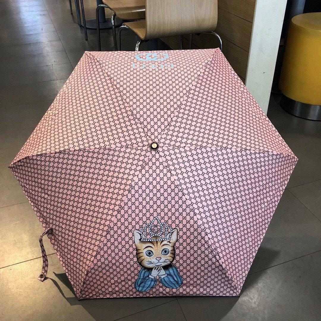 GUCCI古驰五折手开折叠晴雨伞小巧