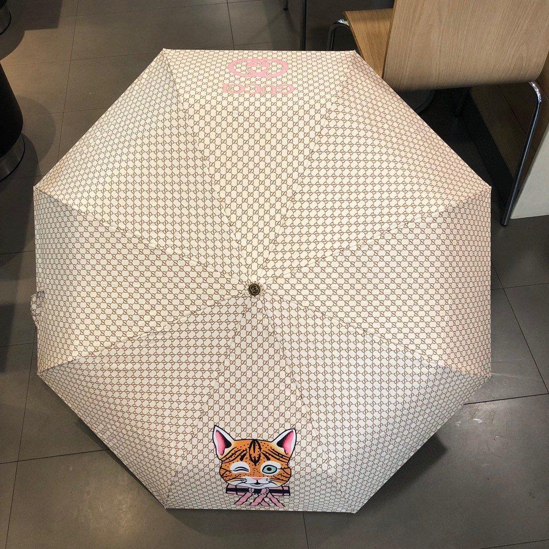 Gucci古奇三折自动折叠晴雨伞晴天