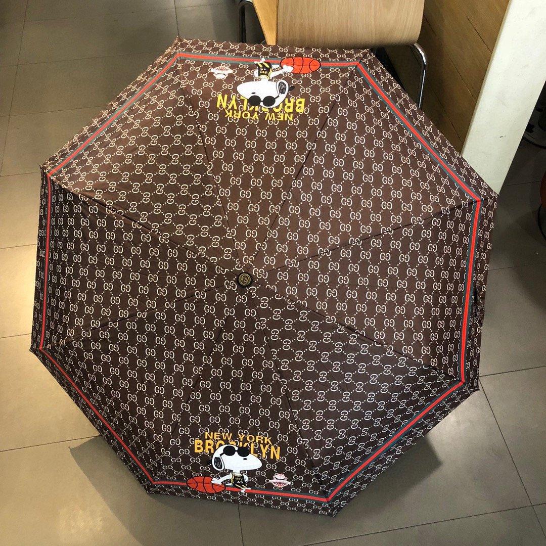 Gucci古奇机器狗三折自动折叠晴雨
