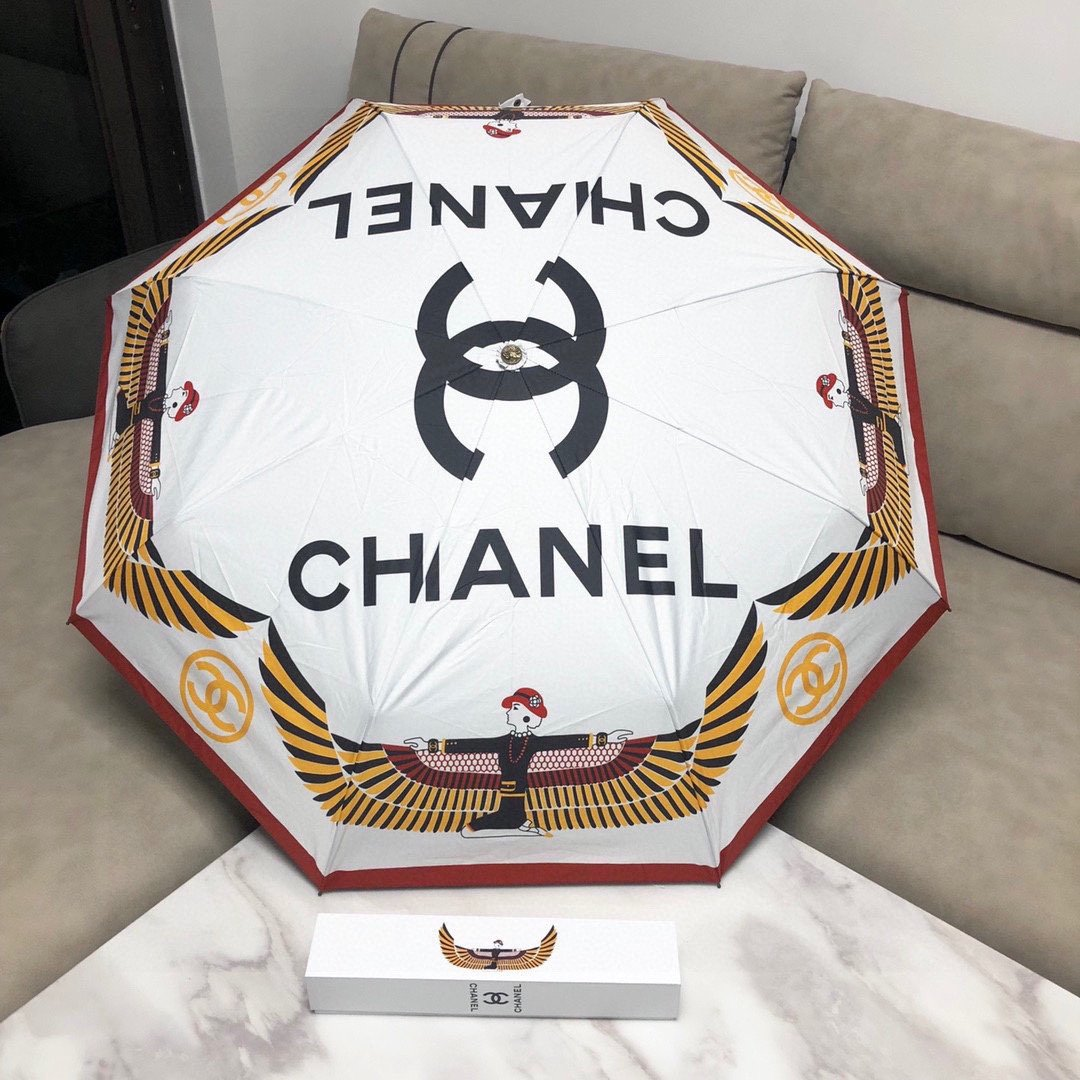 CHANEL香奈儿三折自动折叠晴雨伞