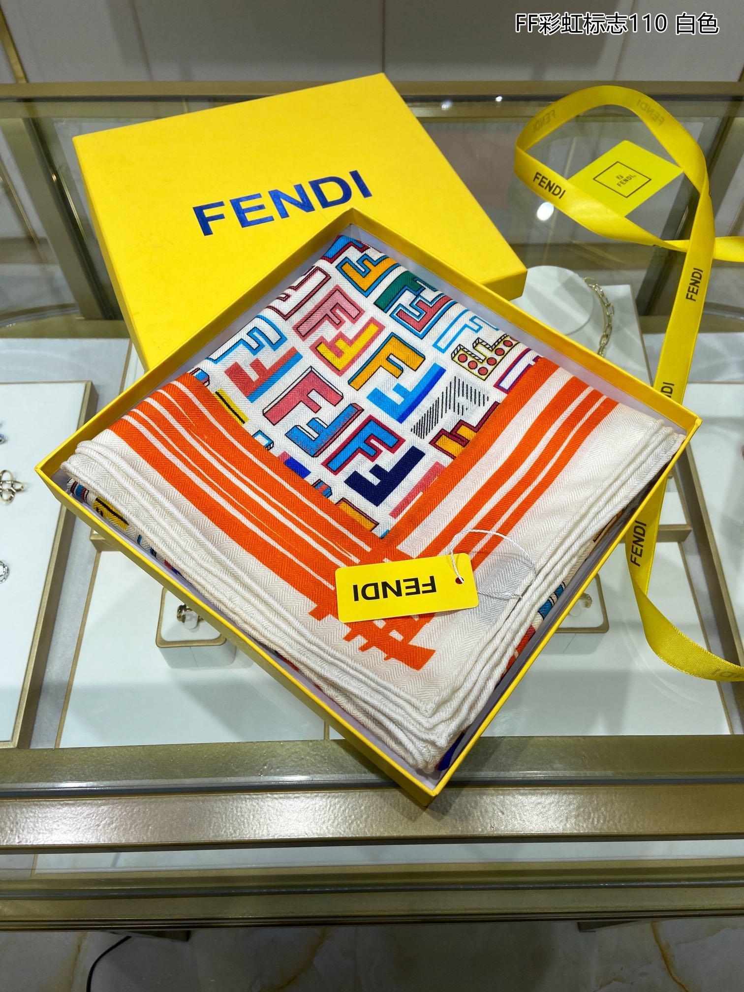 上新FD专柜同步新款FF彩虹标志11