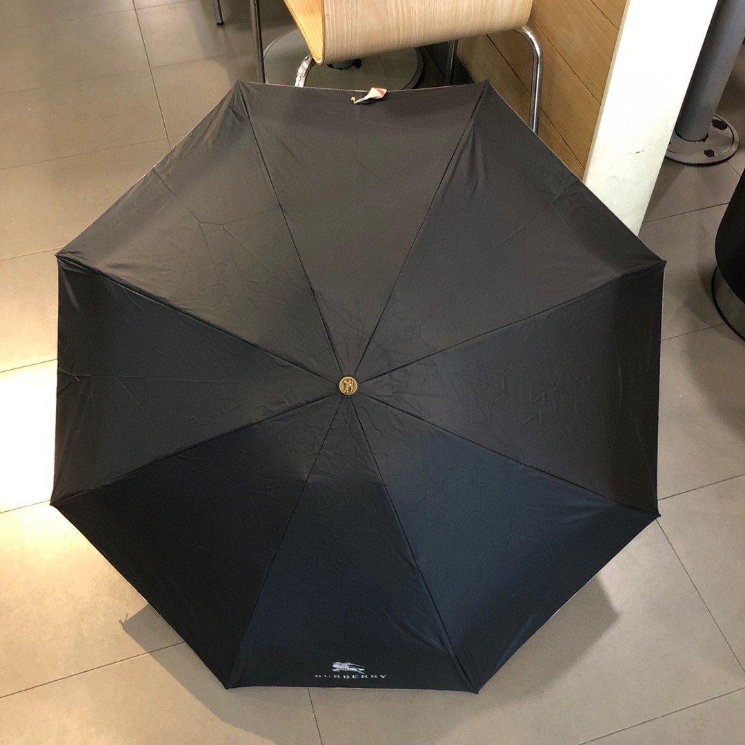 巴宝莉新款五折手开折叠晴雨伞精湛的工