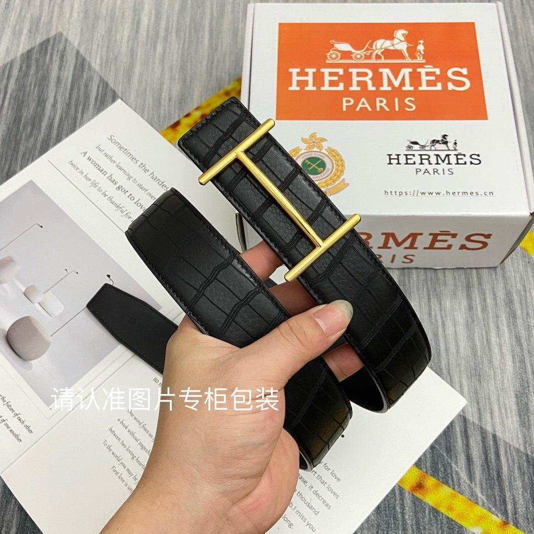 品牌HERMES爱马仕原单皮带腰带双