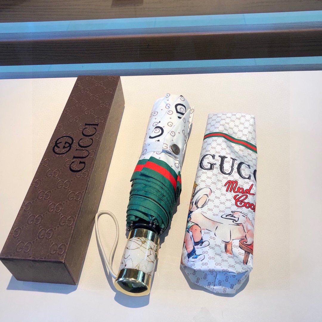 Gucci古奇经典小男孩三折自动折叠