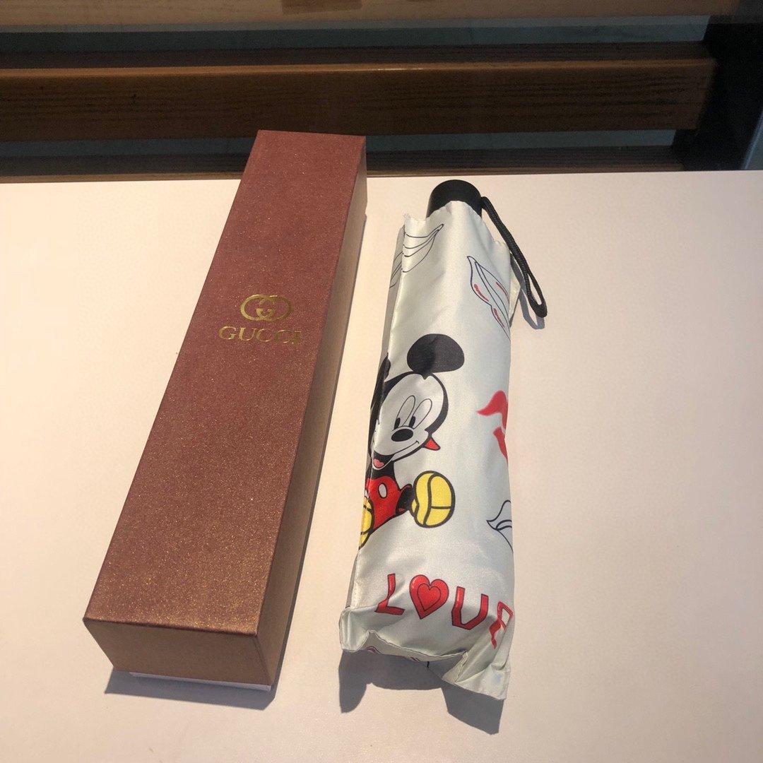 Gucci古奇新款米老鼠三折自动折叠