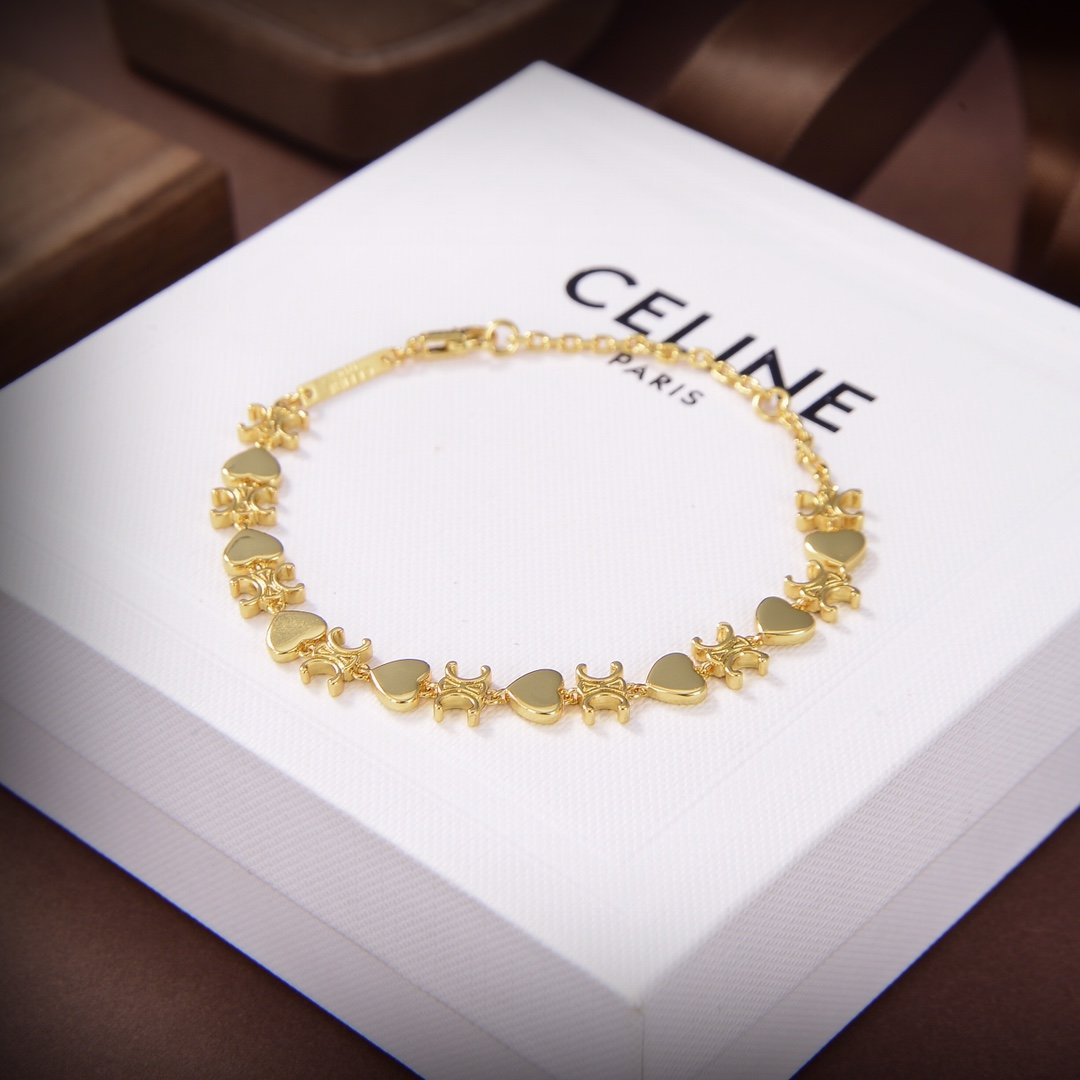 Celine新款凯旋门艺术感十足手链